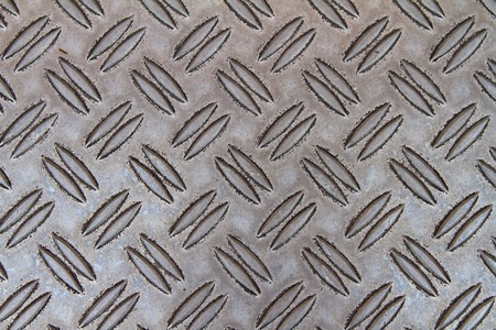 Flooring made ​​of metal with corrugation Standard-Bild