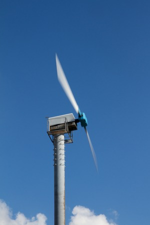 Wind turbine wind turbine in rotation with motion blur