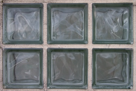 Close-up of Six built-in glass blocks Standard-Bild