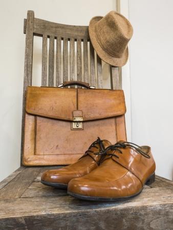 Vintage fashion bag , shoes ,hat , accessories photo