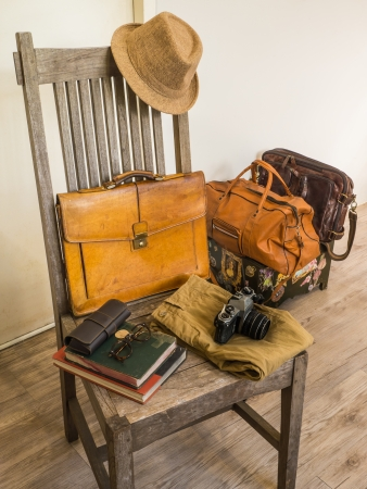 Vintage male bag and accessory photo