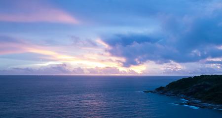 thep: Landscape of  Prom Thep Cape sunset  Phuket island, Thailand  Stock Photo