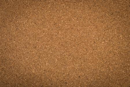 Close up brown cork board texture photo
