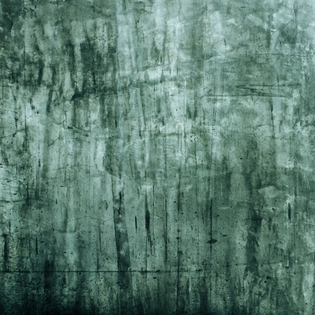 green tone: Concrete cement wall background texture ( Vintage green tone color ) Stock Photo