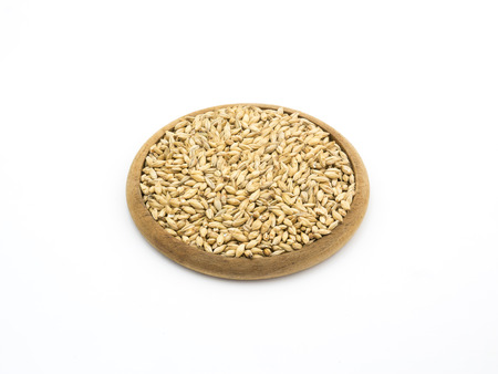 ale: Beer ingredient, isolated Pale ale malt on white background