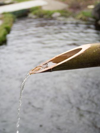 bamboo fountain: Japanese Cho-zu, Traditional Bamboo Fountain