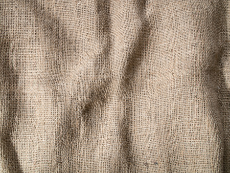 sackcloth: Wrinkled Sackcloth background texture. Stock Photo