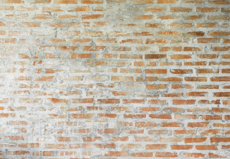 Old orange brick wall texture background
