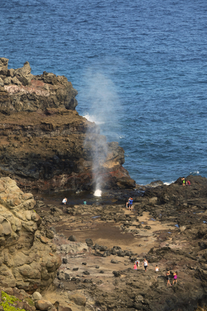 blow hole: Blow Hole in Maui