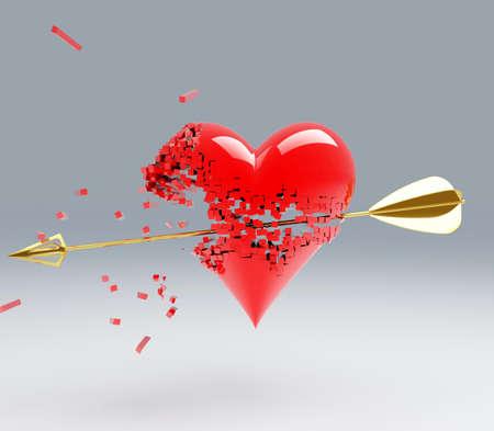 a heart break by an arrow photo