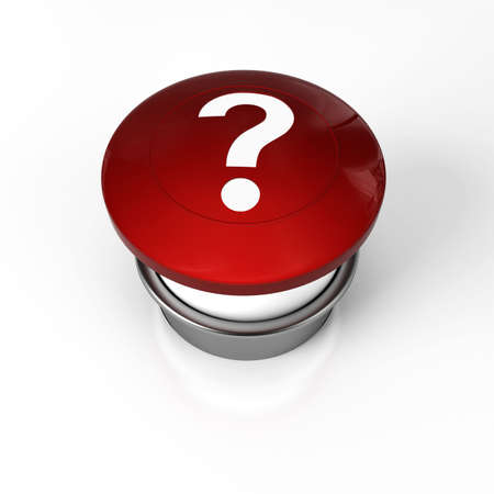 d mark: a panic button for help or question Stock Photo