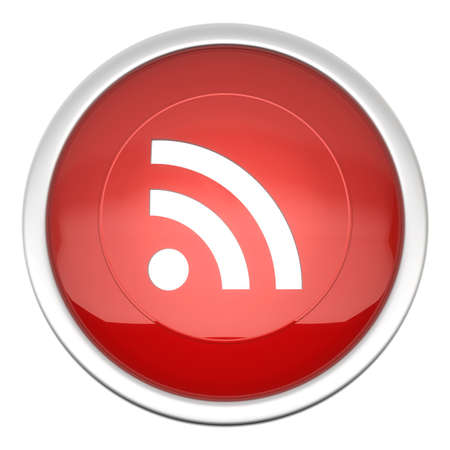 topicality: a large red RSS Feeds icon in three d
