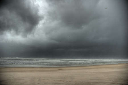 tempest: A beach with lot wind in HDR view
