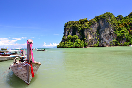 railay: Beautiful beach with transparent sea in Railay island, Thailand