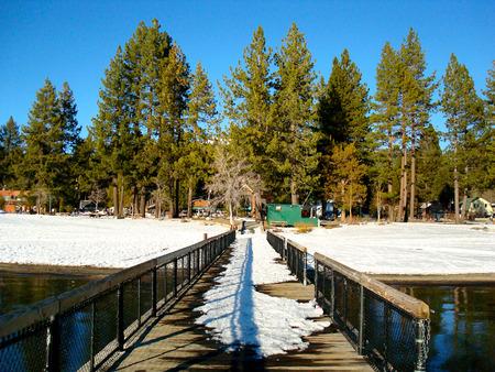 lake tahoe: Beautiful day with sun and blue sky in Lake Tahoe, California.