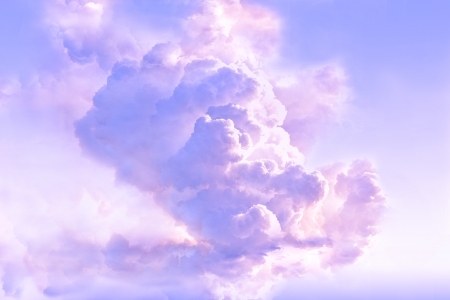 Majestic clouds in the atmosphere
