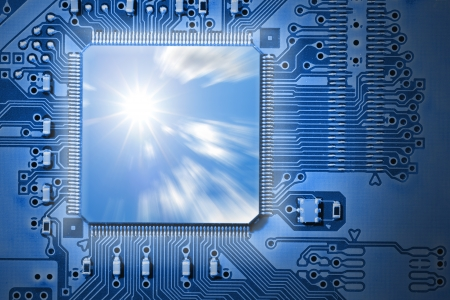 processing speed: Fast CPU  Processor Stock Photo