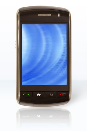 Mobile phone, with touch screen, that has been turned on