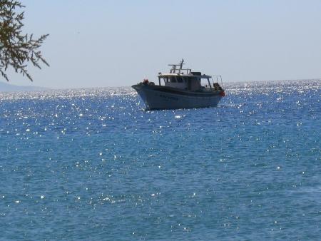 Sailing at Kithnos island