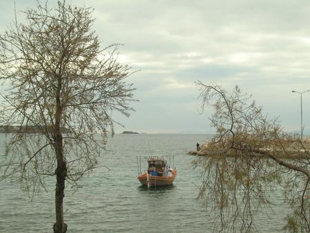 Elefsina winter morning Stock Photo