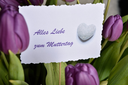 all love: Card with all love for Mother German