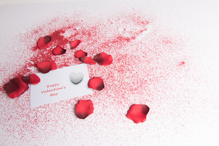 heart and rose for valentines \ 'day Stock Photo