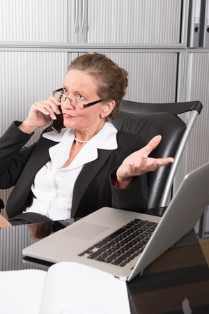 female Manager in the office Stock Photo