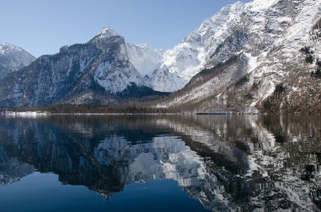 in bavaria: Koenigsee in Bavaria in Winter