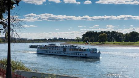 passenger ship: passenger ship on the river rhine