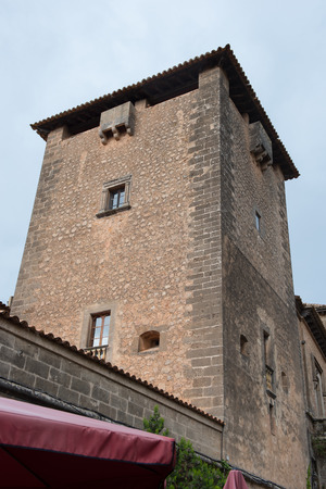 mallorca: tower in the town of valdemossa, - Mallorca, Spain