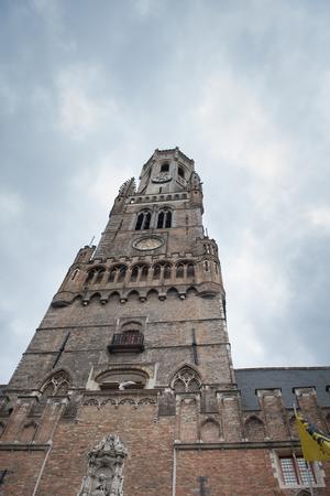 belfry: Historical Bruges Belfry from below - historical landmark