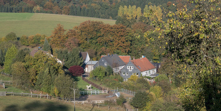 locality: Small village in autumn in the mountainous country