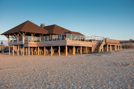 New built wooden beach house in Cadzand, Holland