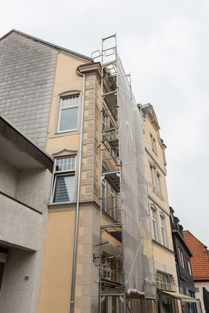 Restoration of historical facades in the city centre of the city of Detmold Banco de Imagens