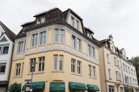 historical facades in the city centre of the city of Detmold