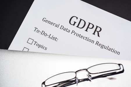 To do list for GDPR - General Data Protection Regulation Stock Photo