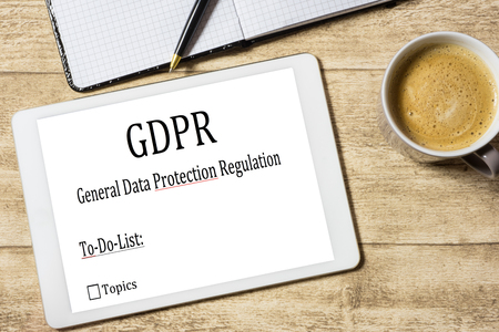 GDPR on a tablet