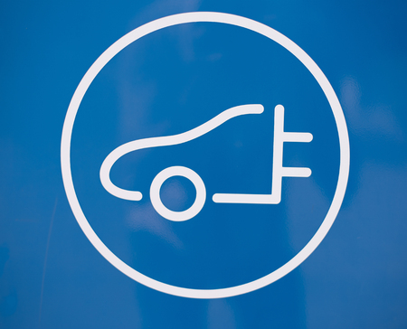 Symbol for charging station in blue