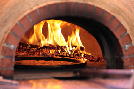 pizza oven: Pizza oven in restaurant