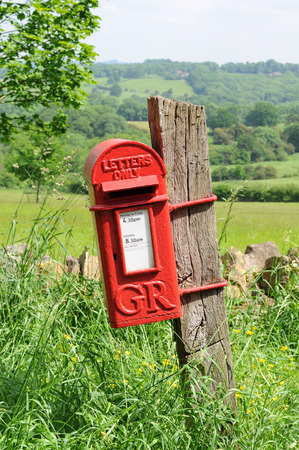 typical: Mailbox in English countryside of Cotswolds