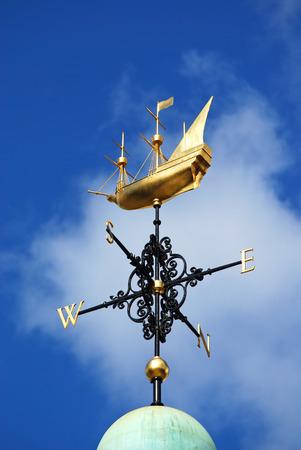 wind vane: Weather vane in London street