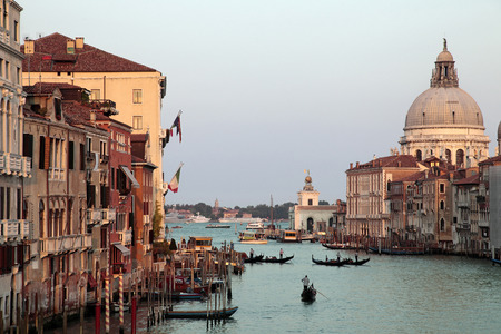 grand canal: Grand canal of Venice at sunset