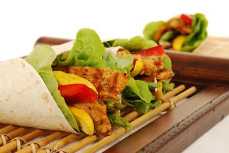 Fajita chicken wrap sandwich photo
