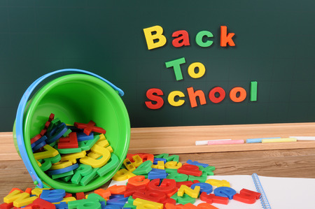 untidy text: Back to school