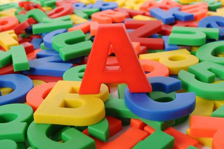 Plastic letters of alphabet Stock fotó