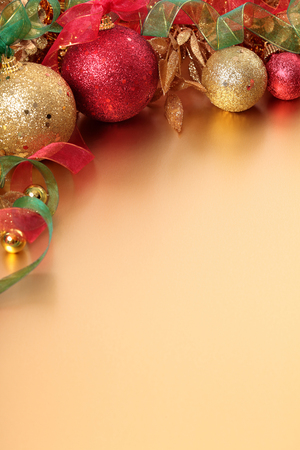 Christmas border decorations with copy space