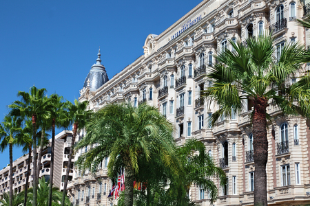 intercontinental: Famous Carlton Intercontinental hotel in Cannes, France