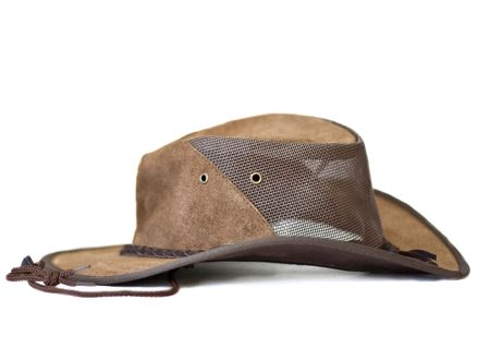 Brown Suede Leather Hat Banque d'images - 4378469