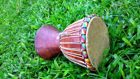 african musical drum instrument