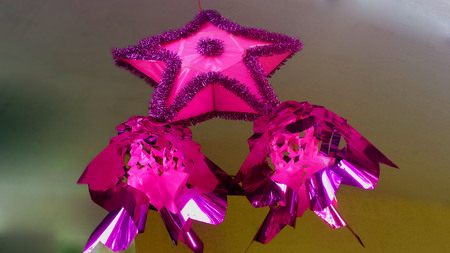 pink and purple chritmas lantern in philippines